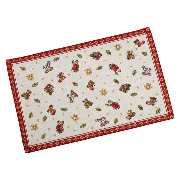 Toy's Delight Gobelin placemat toys, red/multicoloured, 32 x 48 cm, , large