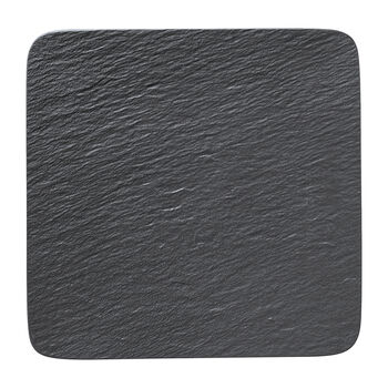 Manufacture Rock square serving/gourmet plate, black/grey, 32.5 x 32.5 x 1.5 cm