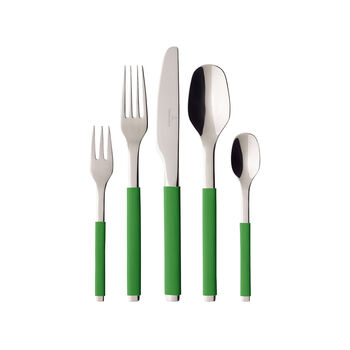 S+ Green Apple cutlery set 30 pieces
