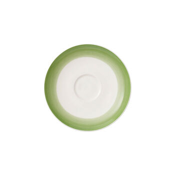 Colourful Life Green Apple coffee cup saucer
