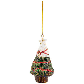 Winter Collage Accessories metal hanging ornament Christmas tree, multicoloured, 12 cm