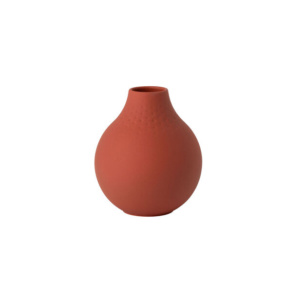 Manufacture Collier terre small vase, Perle, 11 x 11 x 12 cm, , large