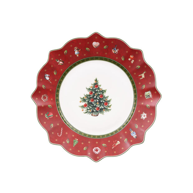 Toy's Delight red breakfast plate, , large