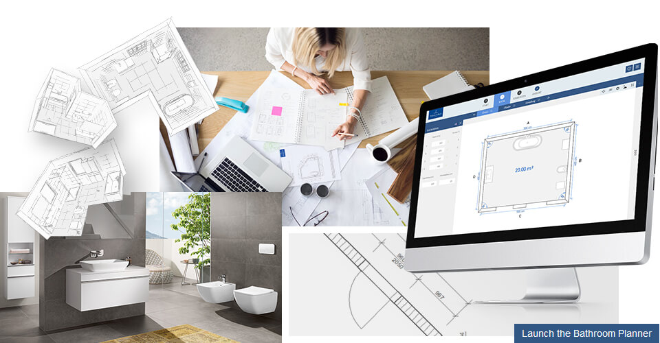 Plan your bathroom design with our online Bathroom Planner