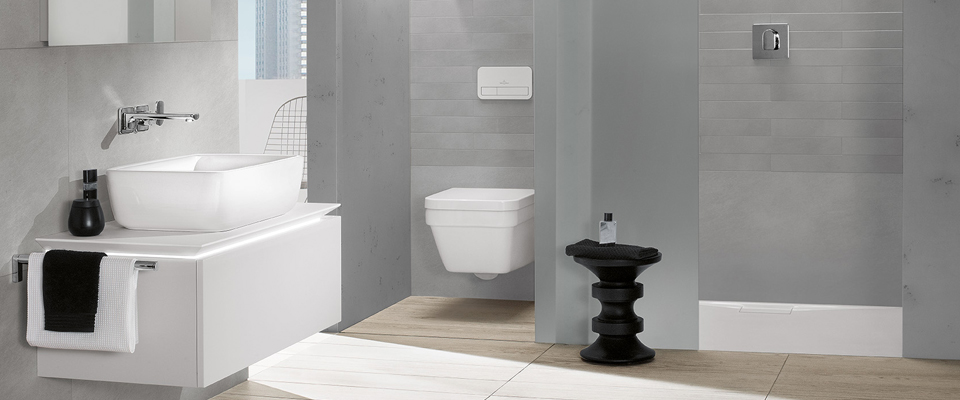 Small bath with shower spacial solutions villeroy boch for Badezimmer 3m2