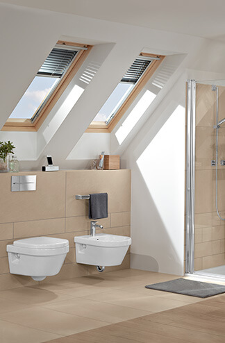 Bath Under A Sloping Roof Clever Use Of Space Villeroy