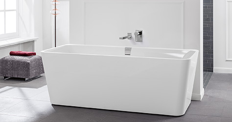bathtubs from villeroy boch in a variety of shapes. Black Bedroom Furniture Sets. Home Design Ideas