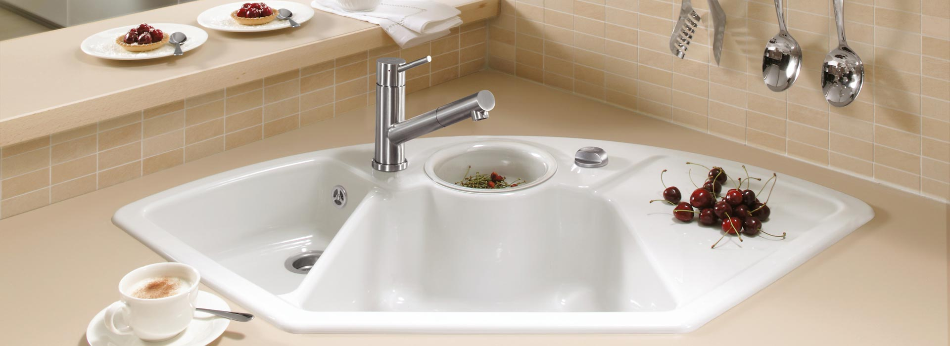 High quality corner sink from Villeroy & Boch