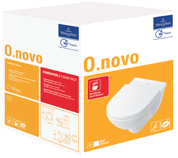 Extremely O.novo WC Complete 5660H1 - Villeroy & Boch CI34